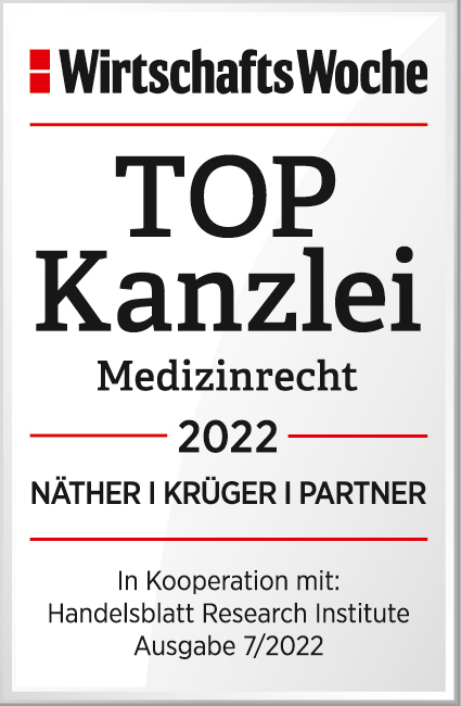Auszeichnung zur Top Kanzlei Medizinrecht 2021 von der Wirtschaftswoche